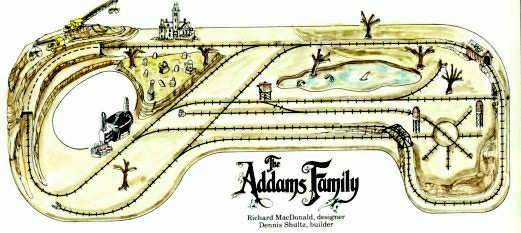 Addams Family Movie Train Layout